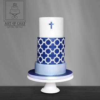 Clover Lattice Communion Cake