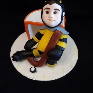 Hockey Player Cake Topper