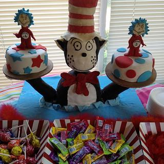 Cat in the hat - Cake by Forgoodnesscakes