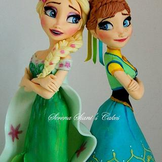 Frozen fever cake topper