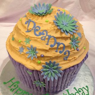 Giant Cupcake Purple/Green