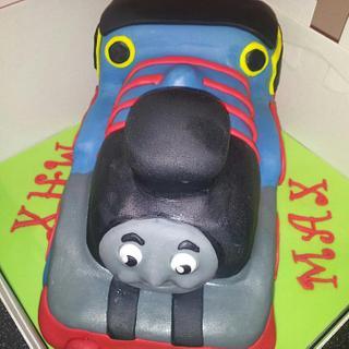 thomas the tank - Cake by countrybumpkincakes