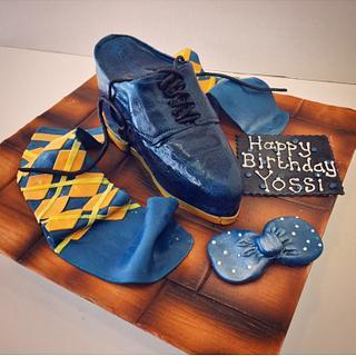 Mens shoe cake
