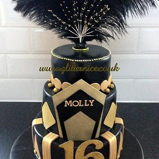 Great Gatsby Style Cake