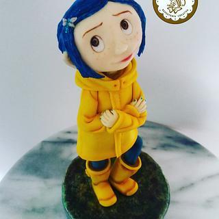 Coraline  - Cake by Alejandra Aguirre (Mamá Ganso)