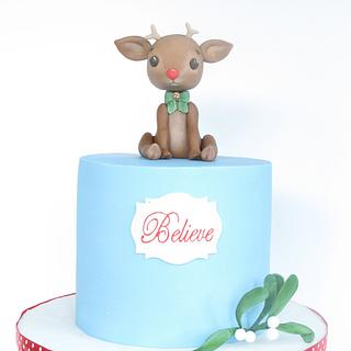 Little Rudolph cake - Cake by Zoe Smith Bluebird-cakes