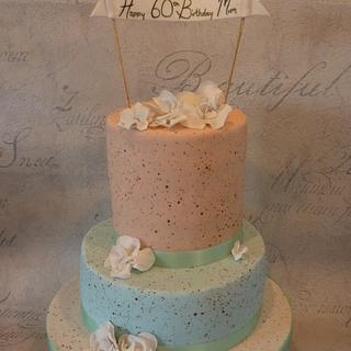 Speckled pastel cake