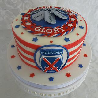 10th Mountain Division Insignia - Cake by Custom Cakes by Ann Marie