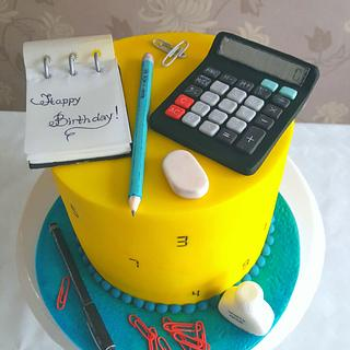 Back to school themed cake