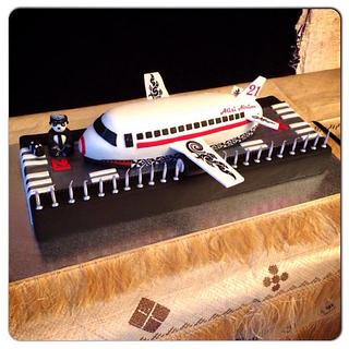 custom aeroplane cake