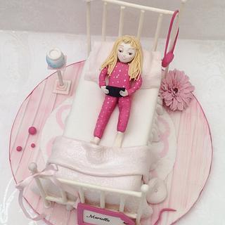 Girlie bed cake