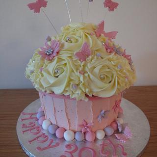 Giant 30th Birthday Cupcake - Cake by Sadie