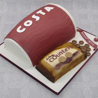Costa take-away cup! - Cake by That Cake Lady