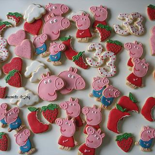 Peppa Pig Cookies - Cake by Miky1983