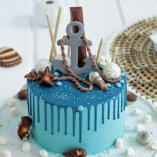 Nautical Dripcake ⚓ - Cake by lebeliebebacke