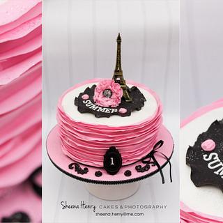 Parisian themed cake  - Cake by Sheena Henry