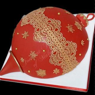 Christmas Bauble - Cake by Fondant Fantasies of Malvern