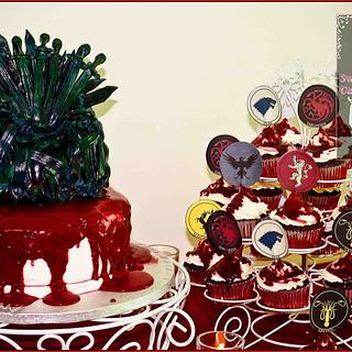 Game of Thrones Cake and Cupcakes