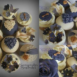 Key to my heart anniversary cupcakes <3