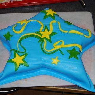 My first fondant cake ever...