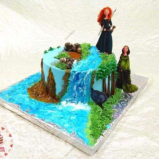 Princess Merida cake - Cake by Sara Hossam