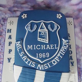 Everton shield cake.