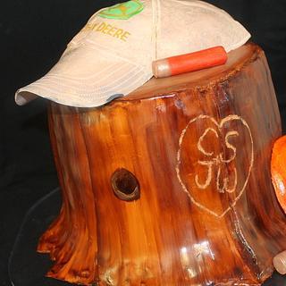 Tree Stump Groom's Cake