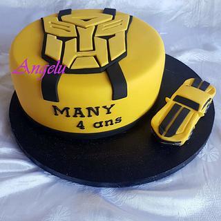 Transformers Bumblebee cake - Cake by Angelu