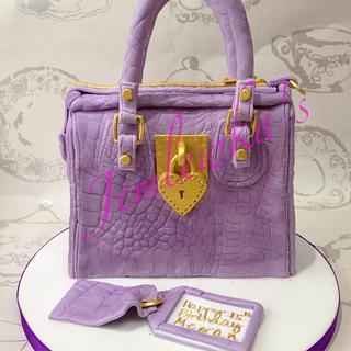 Purple handbag birthday cake
