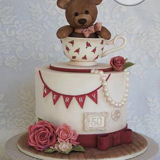 Teddy in a teacup