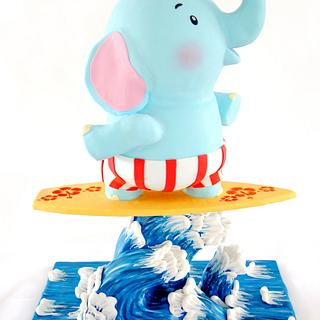 Zo The Elephant On The Surfing Board