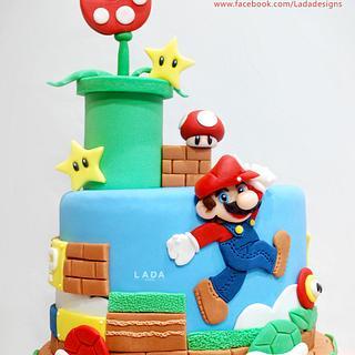Mario sugar cake topper - Cake by Ladadesigns