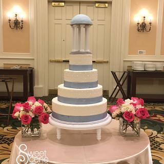 A Tar Heel wedding  - Cake by Sweet Scene Cakes