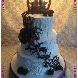 Rustic Wedding Cake - Cake by Sabrina - White's Custom Cakes