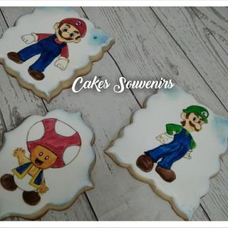 Mario , Luigi Andrea Toad cookies - Cake by Claudia Smichowski