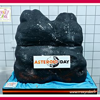 Asteroid day cake