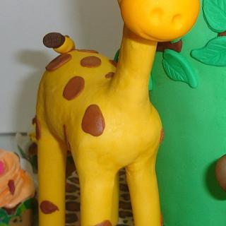Giraffe Topper Cake