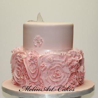 Couture ruffle cake