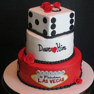 Married in Las Vegas - Cake by Tina