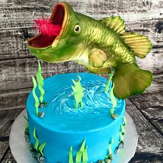Bass groom's cake