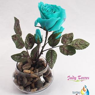 Rosa Turquesa - Cake by JUDY ESPERANZA TORRES BERNAL