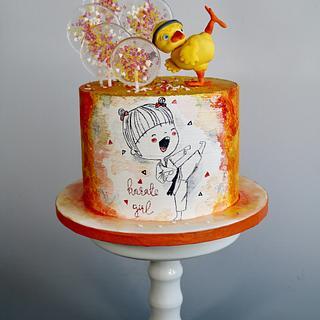 Karate girl - Cake by tomima