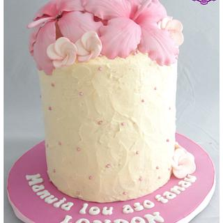 Hibiscus Cake - Cake by BakedbyBeth