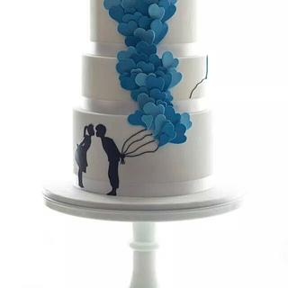Blue Balloons - Cake by Jessie lee cakes