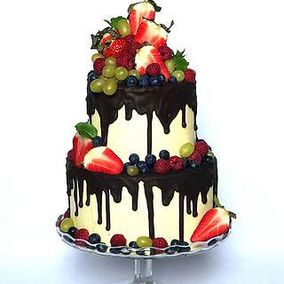 Chocolate and fresh fruits