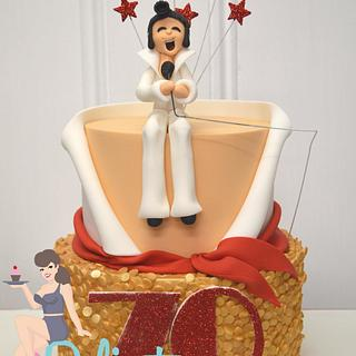 HAPPY 70th Cake Day Elvis Lover