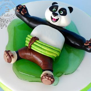 Kung Fu Panda - Cake by Beata Khoo