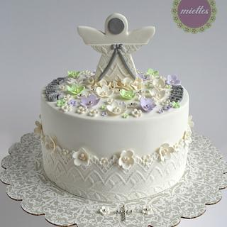 Angel First Communion Cake