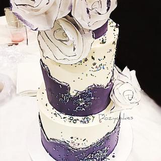 Chipped Buttercream Cake - Cake by Dozycakes