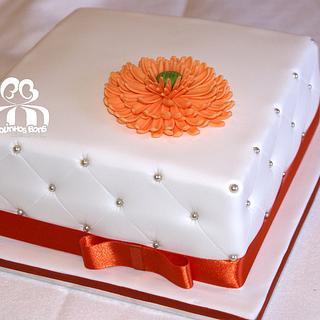 Gerbera elegant cake